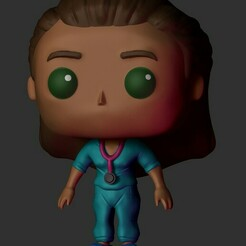2371.jpg Download STL file Doctor Girl Funko • 3D printer object, Pishonsito