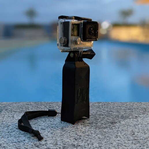 PXL_20201224_090247658.PORTRAIT.jpg Download STL file Camera float and stand - GoPro Insta360 and more • 3D printable object, PHerault