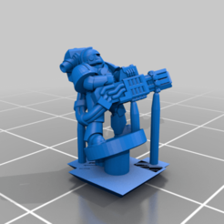 PlateArmour_Heavy_Heatray.png Download free STL file Galactic Crusaders - Anti Organic Heavy Weapons - 6-8mm • 3D printer object, MoonJammy