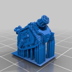 GunPlatform_Mortar_Plate.png Download free STL file Galactic Crusaders - Gun Platform- 6-8mm • 3D print template, MoonJammy
