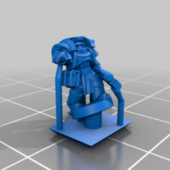 HeavySiege_Wizard.png Download free STL file Galactic Crusaders - Heavy Siege Armour Command- 6-8mm • Template to 3D print, MoonJammy