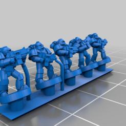 PlateArmourTroop.png Download free STL file Galactic Crusaders - Plate Armour Troop - 6-8mm • 3D printable model, MoonJammy
