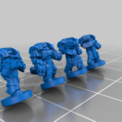 HeavySiege_NoBoolean.png Download free STL file Galactic Crusaders - Heavy Siege Armour - 6-8mm • 3D printer template, MoonJammy
