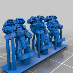 HeavySeigeArmour_Missile_Fists.png Download free STL file Galactic Crusaders - Heavy Siege Armour Heavy Weapons- 6-8mm • 3D print design, MoonJammy