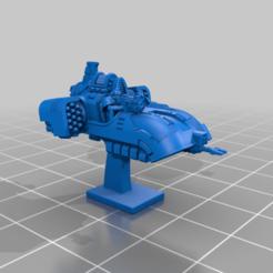 NoSup_AGS_AP_P.png Download free STL file Galactic Crusaders - Anti Gravity Speeder - 6-8mm • Design to 3D print, MoonJammy