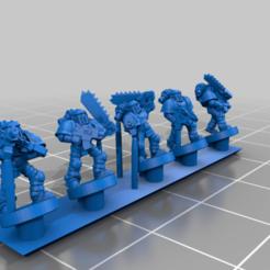 SegmentedArmourPillagers.png Download free STL file Galactic Crusaders - Pillagers - 6-8mm • 3D printer design, MoonJammy