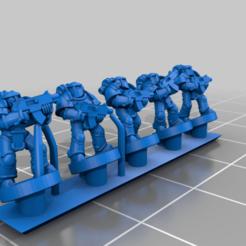 BoardingArmourTroop.png Download free OBJ file Galactic Crusaders - Boarding Armour Troops - 6-8mm • 3D printing model, MoonJammy