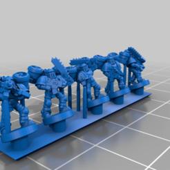 SegmentedArmourTroop_Jet.png Download free STL file Galactic Crusaders - Segmented Armour Troops - 6-8mm • 3D print model, MoonJammy