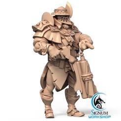 1.jpg Download STL file Pre-supported 3D printable model of Sergeant Bron • 3D printable object, SignumWorkshop