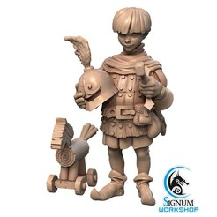 6.jpg Download STL file Pre-supported 3D printable model of Rufus the Young Squire • 3D printable template, SignumWorkshop