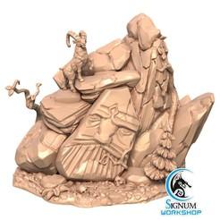 1.jpg Download STL file Pre-supported 3D printable model of Rocks • Template to 3D print, SignumWorkshop