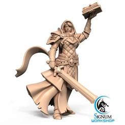 1.jpg Download STL file Pre-supported 3D printable model of Liobrenda the Temple Novice • 3D printer object, SignumWorkshop