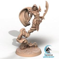 1.jpg Download STL file Pre-supported 3D printable model of Aisha the Mirage of Desert • 3D print model, SignumWorkshop