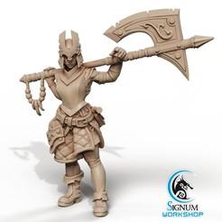 1.jpg Download STL file Pre-supported 3D printable model of Riana Armourer • 3D printable design, SignumWorkshop