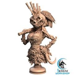 2.jpg Download STL file Pre-supported 3D printable model of Bust of Rebecca Pumpkinhead • 3D printing model, SignumWorkshop