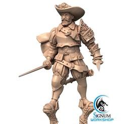 1.jpg Download STL file Pre-supported 3D printable model of Chevalier de Batz • 3D printer model, SignumWorkshop