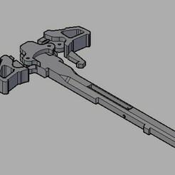 charging handle amoeba.jpg Download STL file Custom Ares Amoeba Charging Handle • 3D print template, actsalgado