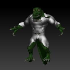 2333.jpg Download free STL file lizard • 3D printer design, clientetrabajo