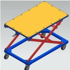 1A.jpg Download STL file Adjustable Scissor Lift Table • 3D printable design, yashar20