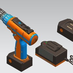 1.JPG Download STL file Cordless Drill • 3D printer design, yashar20