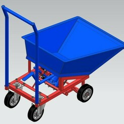 1.jpg Download STL file Hydraulic Wheelbarrow For Workshop • Object to 3D print, yashar20