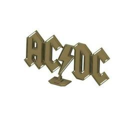 acdc9.jpg Download free STL file ACDC logo with support • 3D printing object, van_severen_ludo