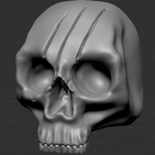 Skullpic4.PNG Download free STL file Human Skulls Pack • 3D print template, DragonFodderGaming