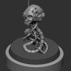 AndroidSkullpic3.PNG Télécharger fichier STL Crâne d'androïde • Design à imprimer en 3D, DragonFodderGaming