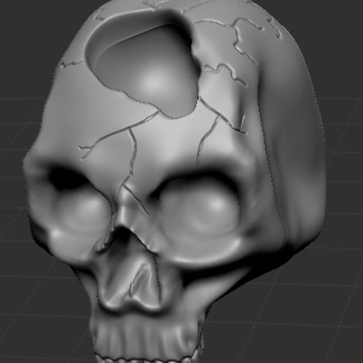 Skullpic5.PNG Download free STL file Human Skulls Pack • 3D print template, DragonFodderGaming