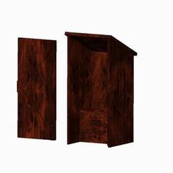 prt0001.jpg Télécharger fichier STL gratuit maquette des toilettes extérieures à l'échelle 1;48 • Modèle imprimable en 3D, jerrycon