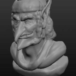 goblin.jpg Download free OBJ file Goblin Bust • Design to 3D print, jerrycon