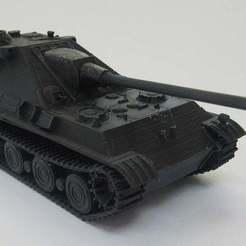 IMG_3069.JPG Télécharger fichier STL gratuit Jagdpanther2 échelle 1/56 • Objet imprimable en 3D, jerrycon