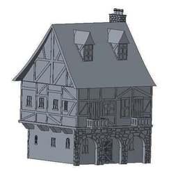 hou5.jpg Télécharger fichier STL gratuit Une autre maison de style Tudor pour le wargaming • Objet pour impression 3D, jerrycon
