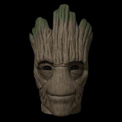groot render fodido.png Download STL file Groot Vase • Template to 3D print, SamuelFontes