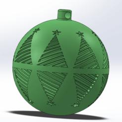 xmas3.png Télécharger fichier STL Décoration de l'arbre de Noël • Design à imprimer en 3D, Marlbor0