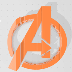 avengers.png Download STL file TEXT FLIP,avengers • Object to 3D print, GOHAN66