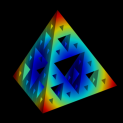 Sierpinski_tetrahedron_lvl3_cmap.png Download STL file Sierpinski tetrahedron iteration 3 • 3D printable model, Nicosahedron