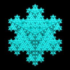 koch_snowflake_lvl=3.png Télécharger fichier STL Triangular base Koch snowflake 3D iteration 3 • Objet pour impression 3D, Nicosahedron