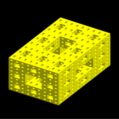 Golden_ratio_3-lvl_Sierpinski-Menger_sponge_cmap_yellow_mshlb3.png Download STL file Golden ratio Sierpinski-Menger sponge 3rd iteration • Model to 3D print, Nicosahedron