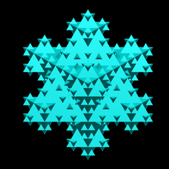 koch_snowflake_lvl=3.png Download STL file Triangular base Koch snowflake 3D iteration 2 • 3D print object, Nicosahedron