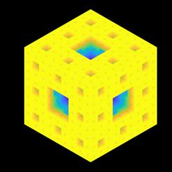 4_lvl_Menger_sponge_color.png Download STL file Sierpinski-Menger sponge 4th iteration • 3D printable model, Nicosahedron