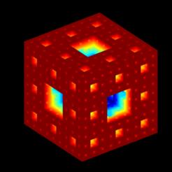3_lvl_Menger_sponge_cmap_jet.png Download STL file Sierpinski-Menger sponge 3rd iteration • 3D printer object, Nicosahedron