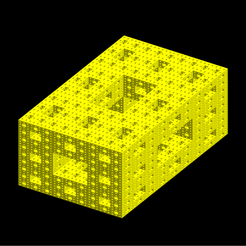 Golden_ratio_4-lvl_Sierpinski-Menger_sponge_cmap_yellow_mshlb.png Download STL file Golden ratio Sierpinski-Menger sponge 4th iteration • 3D printer template, Nicosahedron