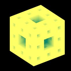 2_lvl_Menger_sponge_cmap_summer.png Download free STL file Sierpinski-Menger sponge 2nd iteration • 3D printer template, Nicosahedron