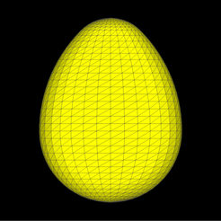 Ovoid_yellow_mesh.png Download free STL file Ovoid • 3D printable template, Nicosahedron
