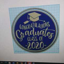 IMG-20201210-WA0003.jpg Download STL file Cookie cutter graduation class of 2020 • 3D printable object, mikegenius