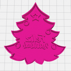ArbolFeliz.PNG Download STL file Christmas Tree Feliz Navidad Cookie Cutter • 3D printer object, mikegenius