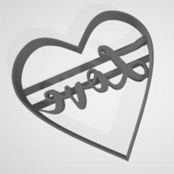 LoveCorazonMitSchrift.PNG Télécharger fichier STL Découpeur de biscuits Saint-Valentin San Valentin LOVE heart • Objet pour impression 3D, mikegenius