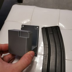 Download STL file Wall bracket M4/AR15 • 3D printer model, GROOT13