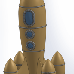 retro_rocket_2_r_sld.png Download free STL file RETRO ROCKET 2 (NO SUPPORTS NEEDED!!!) • 3D printer object, Boubamazing